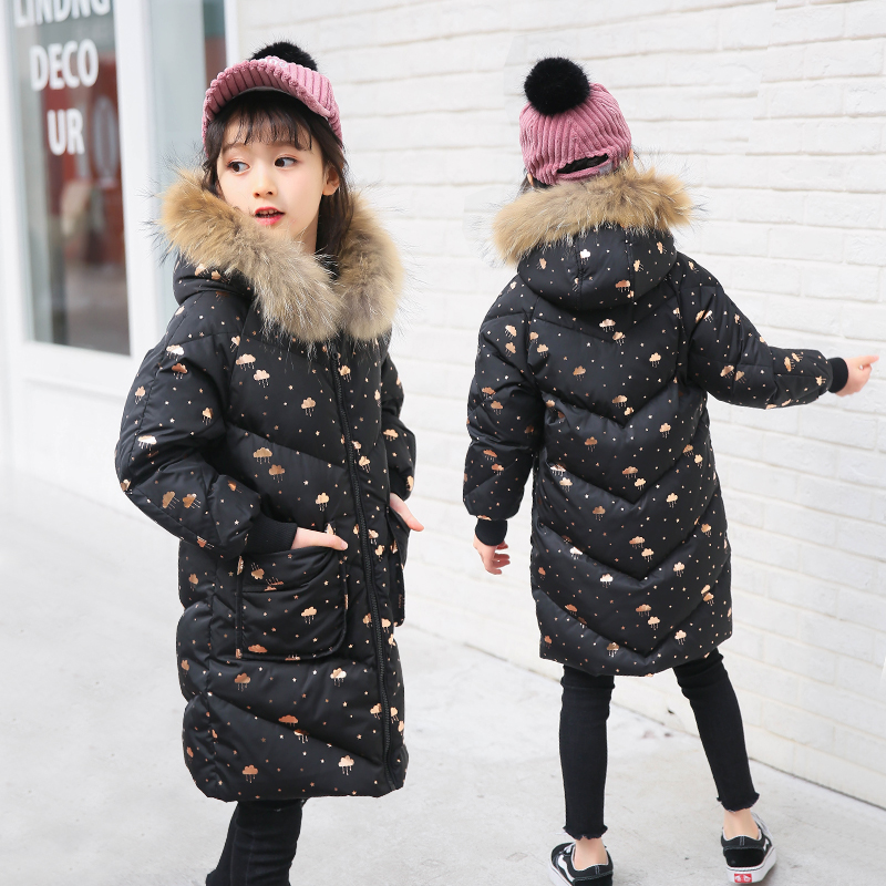 2018 Girl Winter Jackets Coat Children Girls Down Coat Kids Warm Down Jacket for Girls Parka Coat Snowsuit 120-160