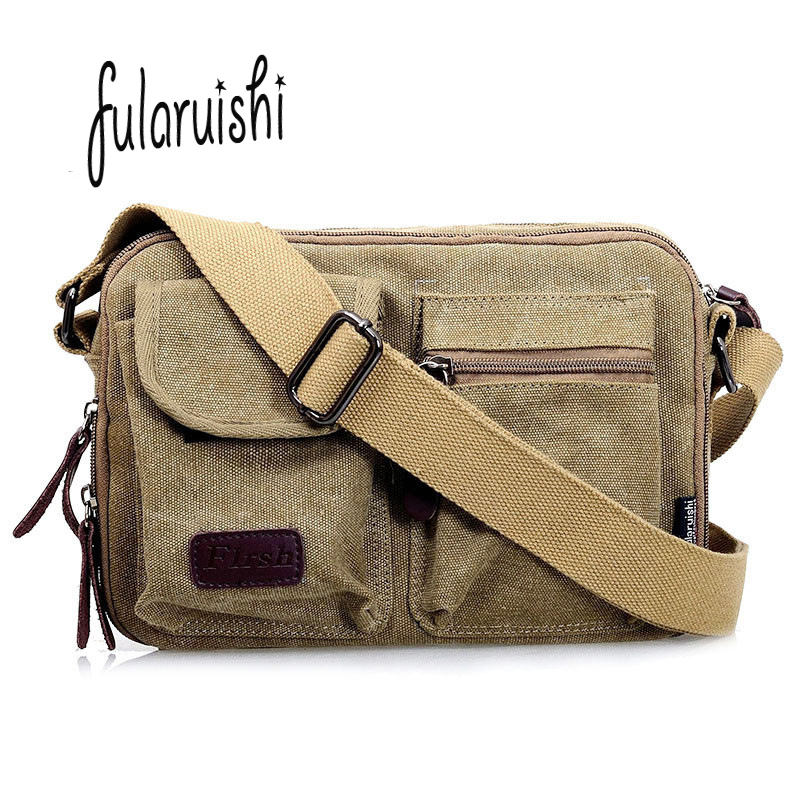 FULARUISHI Retro Men Briefcase 2017 new Business Canvas Shoulder Bag Messenger Bags Man Tote Handbag Casual Travel bag sac WH335 vintage crossbody bag dark khaki canvas shoulder bags men messenger bag man casual handbag tote business briefcase for computer