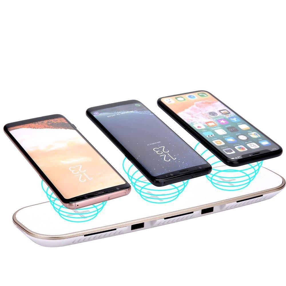 Qi Sans Fil chargeur pour Samsung Galaxy S10 S10 Plus Rapide De Charge Pour Huawei Compagnon 20 Pro Samsung S10 Plus chargeur de téléphone usb Pad