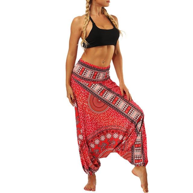 Ladies Boho Harem Pants Earth Colors 6