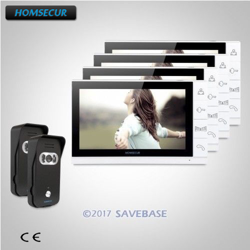 HOMSECUR 9inch Wired Video Door Entry Phone Call System+Black Camera for Apartment homsecur 9inch wired video door entry phone call system black camera for apartment