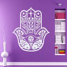 Vinyl Wall Decals Fatima Hand Sticker Fashion Bedroom Decoration Yoga Boho Style Art Mural Removable Hamsa Decal AY919