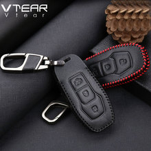 Vtear for Ford Focus Ecosport Kuga edge Fiesta mondeo exploror key case cover keychain ring cover interior car-styling part