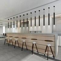 LukLoy 3W İskandinav Modern tüp kolye ışık asılı lambalar mutfak ada yemek masası resepsiyon ön büro ofis binası