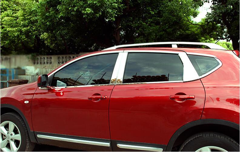 Voiture porte pleine fenêtre cadre fenêtre seuil moulage revêtement d'habillage pour Nissan Qashqai 2007 2008 2009 2010 2011 2012 2013 par EMS
