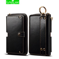 Wholesale Fashion Women Girl Lanyard Flip Wallet Leather Case For IPhone 7 7 Plus Phone Bag