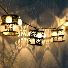 LED Steel Lights Retro Lantern AC 220V Led Fairy String LED Light Outdoor Christmas New Year Garland Gerlyand Decoration Light blue 180 led christmas decoration string lights 18 meter 220v ac