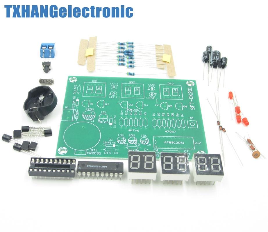 9V-12V AT89C2051 6 Digital LED Electronic Clock Parts Compon
