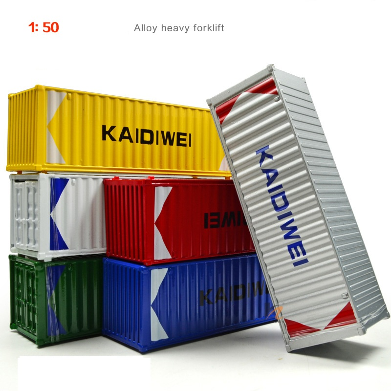 1:50 Scale Model Container Alloy And Plastic Material Container Colorful Model For Decoration Gift