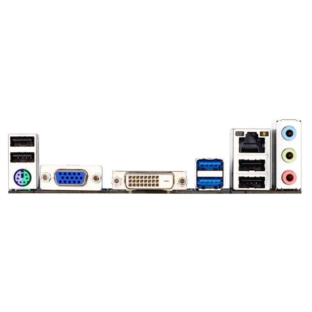 الأصلي المستخدمة سطح المكتب اللوحة جيجابايت GA-H61MA-D2V H61 LGA 1155 i7 i5 i3 DDR3 16 جرام SATA2 USB3.0 VGA DVI PCI-E 3.0 مايكرو ATX