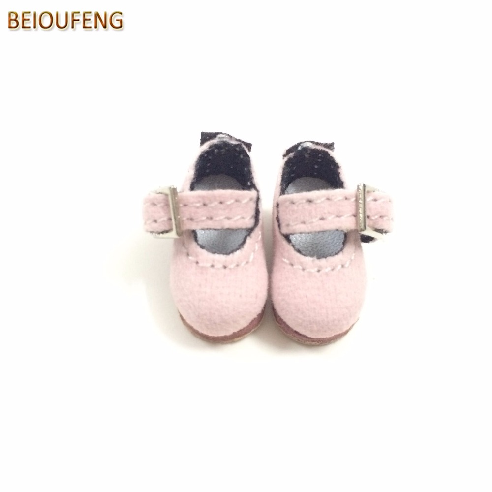 BEIOUFENG 1 8 BJD Doll Shoes for Blythe Doll Toys Mini 2 5CM Toy Boots for