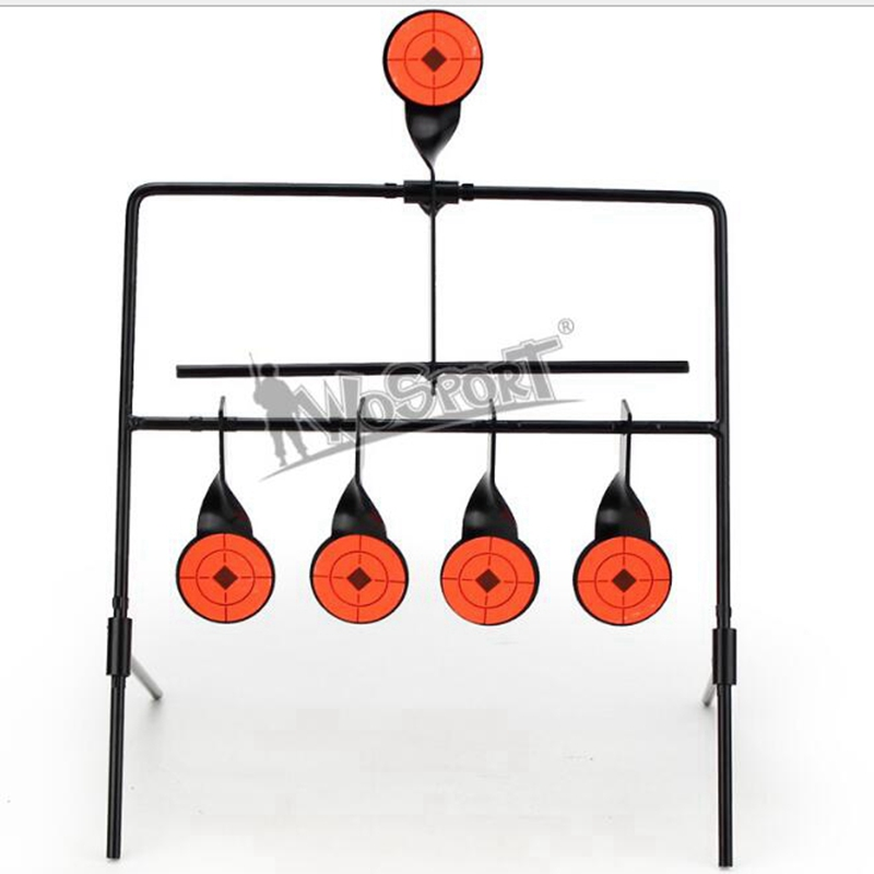 5 Steel Plates Self Resetting Spinner Metal Targets Practice Shooting Target Set Metal Target