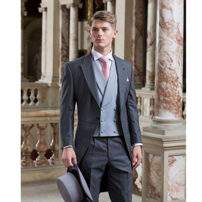 Neuesten Designs Blazer Smoking Custom Bräutigam Hochzeit Terno Großhandel Maßgeschneiderte Hose Anzüge Formale Mantel Marineblau Anzüge Herren vwnmN80