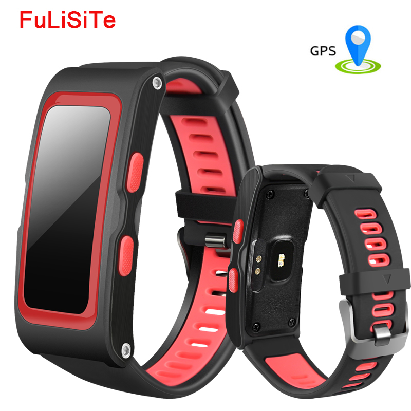 GPS Tracker Bracelet Sleep Monitor Pedometer Smart Band Heart Rate Monitor Bluetooth Gsensor Automatic Lap Wristband