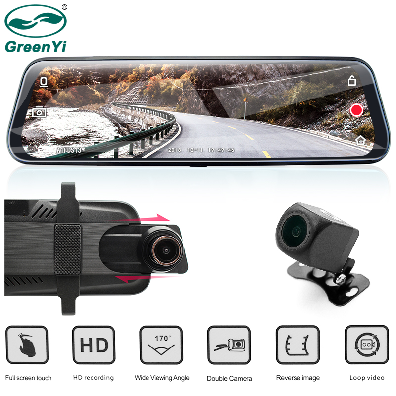 GreenYi Car DVR 9 68 IPS Rear View Mirror Monitor Full HD 1080P Night Vision Dash