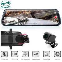 "GreenYi Car DVR 9.68"" IPS Rear View Mirror Monitor Full HD 1080P Night Vision Dash Cam Camera Auto Driving Recorder G-sensor"