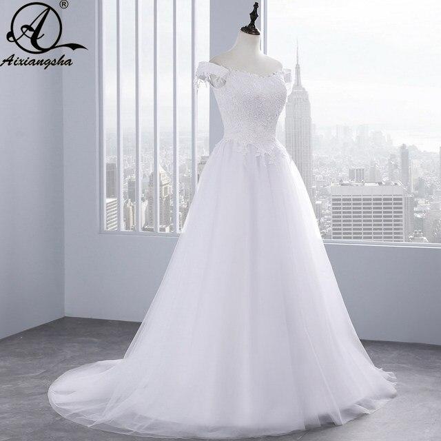 Online Shop Simple And Cheap Beach Wedding Dress Long 2018 Vestidos ...