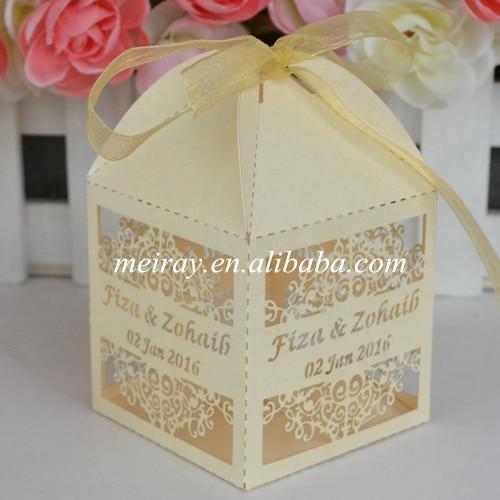 Online Shop 50pcs Laser Cut Best Indian Wedding Gifts For Guests Promotional Favor Boxes