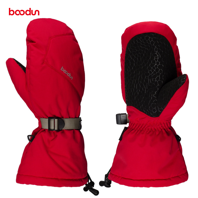 Boodun Velvet Warm Waterproof Winter Ski Gloves Women Men Skiing Snowboard Gloves For Outdoor Sports Snowmobile Snowboarding