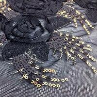 1 yard 91*130 cm, tulle bordado dentelle tissu, africain paillettes couture tecido para, haute qualité patchwork brodé de dentelle matériel