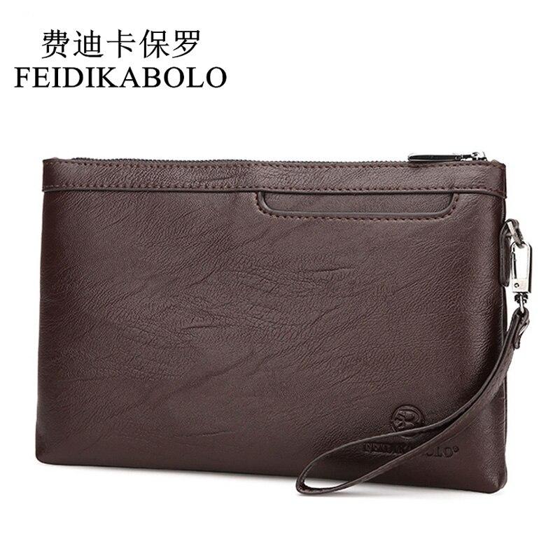 FEIDIKABOLO Famous Brand Men's Clutch Wallets Male Leather Purse Men Wallets Clutch Man Handy Bags Carteiras Billeteras Mujer feidikabolo brand men wallets business