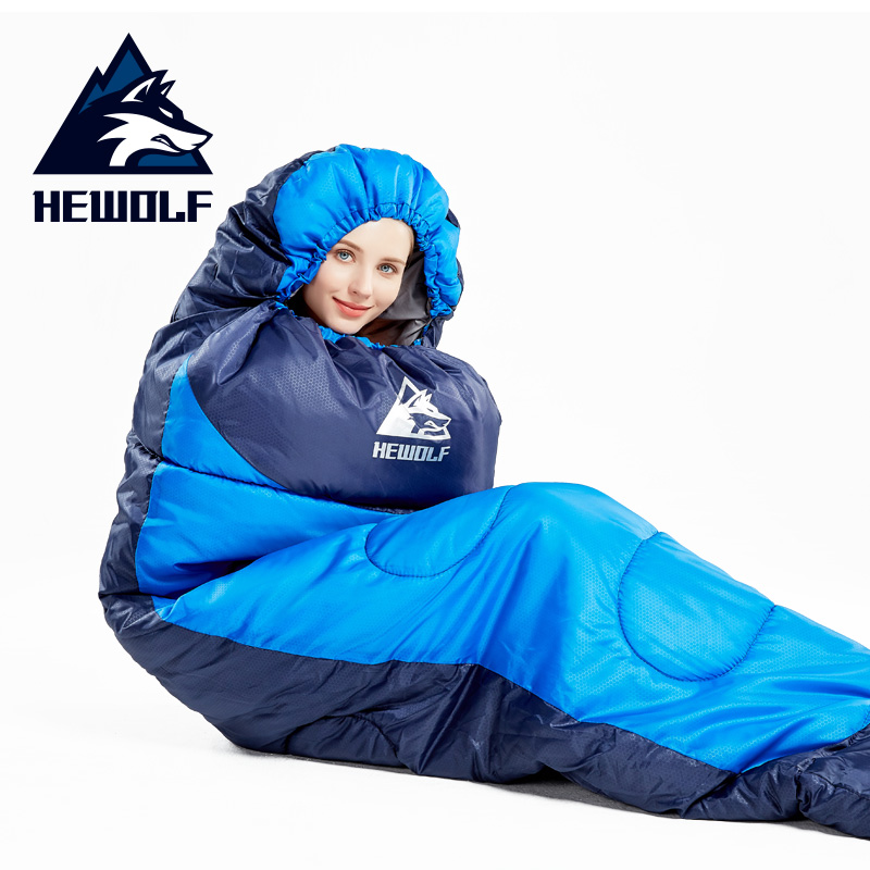 Hewolf 4 Season Outdoor Camping Sleeping bags Cotton 1 3kg 1 6kg 1 8kg Hiking Travel