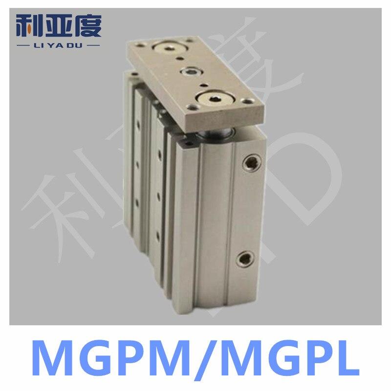 MGPM20-50 Thin cylinder with rod MGP Three axis three bar MGPM20*50 Pneumatic components MGPL20-50 MGPL20*50 36 50