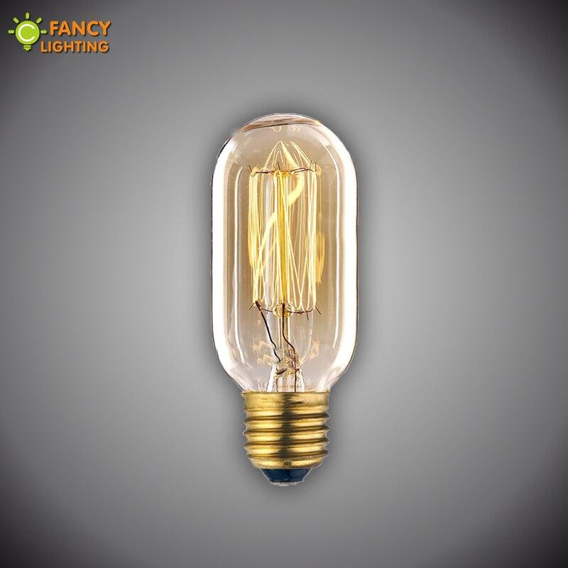 Vintage lamp E27 T45-Z edison light bulb 110V 220V incandescent lamp for bedroom/dining room vintage home decor 40W retro light