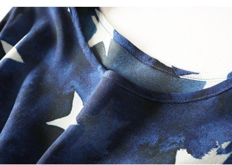 Star Plus Robe Manches Réel Chemise D'été Soie Taille 100Naturel Chemisier Courtes Femmes Grande Print Plage Basique En Ol De txsrQhdC