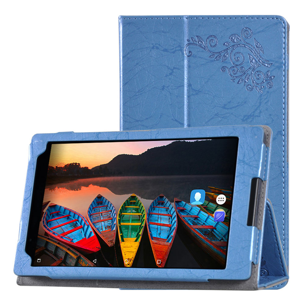 Case for Lenovo TAB4 8 Plus Print PU Leather Flip Case for Lenovo TAB 4 8 Plus TB-8704N TB-8704F Tablet Case Flip Stand+Stylus slim fit stand feature folio flip pu hybrid print case for lenovo tab 3 730f 730m 730x 7 inch