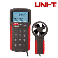 UNI T UT362 2.7 LCD Digital Wind Speed Meter Anemometer High Precision Anemoscopes w/ USB Interface Air Flow Meter