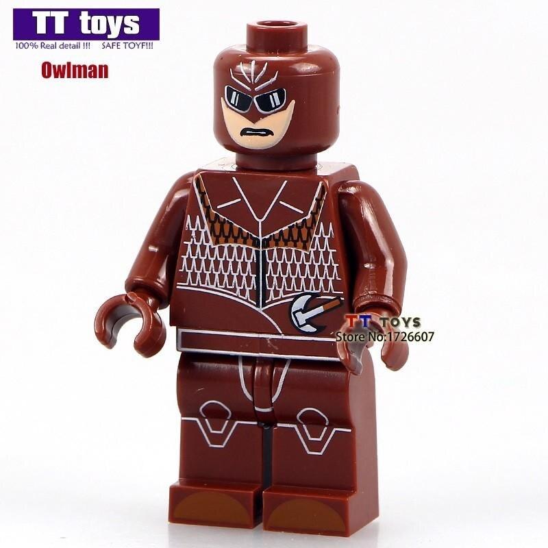 SingleSale Watchmen Owlman Рой Реймонд Роршах DC Лига Справедливости SUPER HEROES Minifig собрать модель строительные блоки детей игрушки
