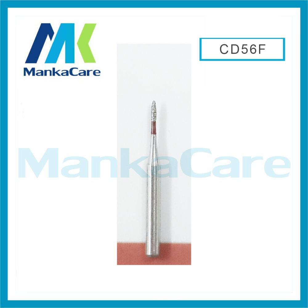 MKCD56F-Dental Diamond Burs Set For Porcelain Shouldered Abutment Polishing/High Quality Speed Handpiece Burs/Wear-resistant/Lab