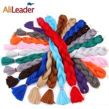Alileader, 165 г/шт., 82 дюйма(96 см), синтетические высокотемпературные волокна, огромные косички, волосы для наращивания, один кусок, вязанные крючком косички, чистый цвет