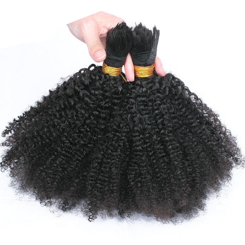 Cheveux de tressage humains en vrac pas de trame Afro crépus bouclés cheveux en vrac pour tressage mongol Remy cheveux Crochet tresses 1 Pc seulement Comingbuy