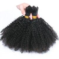 Human Braiding Hair Bulk No Weft Afro Kinky Curly Bulk Hair For Braiding Mongolian Remy Hair Crochet Braids 1Pc Only Comingbuy