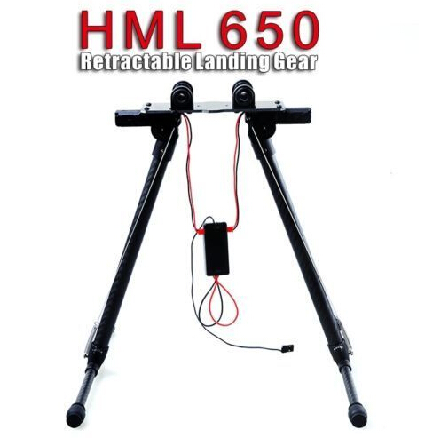 HML650 650 Quick Install Carbon Fiber Retractable Landing Gear Skid For S550 Tarot 650 HML Zyhobby 20mm pipe clamp hj 1100p carbon fiber retractable landing gear skid set for s800 s800 evo multicopters