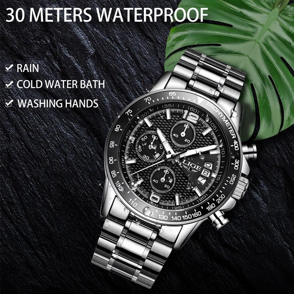 HTB1GEmFXLc3T1VjSZPfq6AWHXXaG LIGE New Mens Watches Top Brand Luxury Stopwatch Sport waterproof Quartz Watch Man Fashion Business Clock relogio masculino+Box