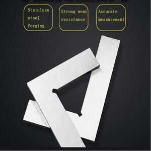 Regla de borde de cuchillo de 90 grados, probador de ángulo de acero inoxidable, transportador de ángulo recto, herramienta de medición de Ángulo Cuadrado de carpintería