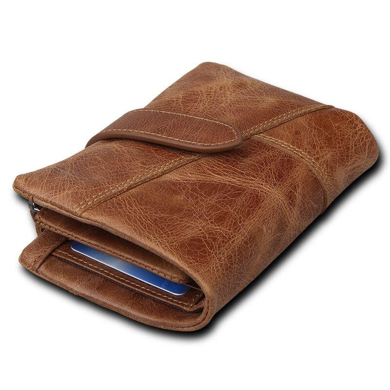 genuíno com zíper com o Leather Craft : Genuine Cow Leather