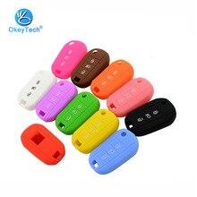 OkeyTech, 3 кнопки, силиконовый резиновый чехол для автомобильных ключей для peugeot 3008 208 308 508 408 2008, защитный чехол-держатель, автомобильные аксессуары