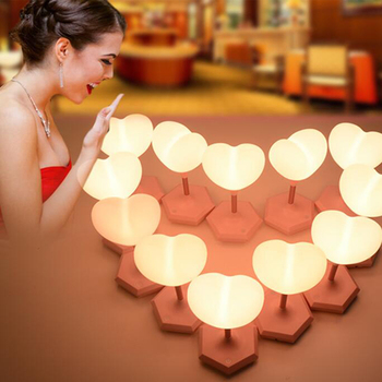LED Night Light Love Heart Balloon Lamp Touch The Third Gear Dimming Atmosphere Lamp New Year Garland Christmas Light