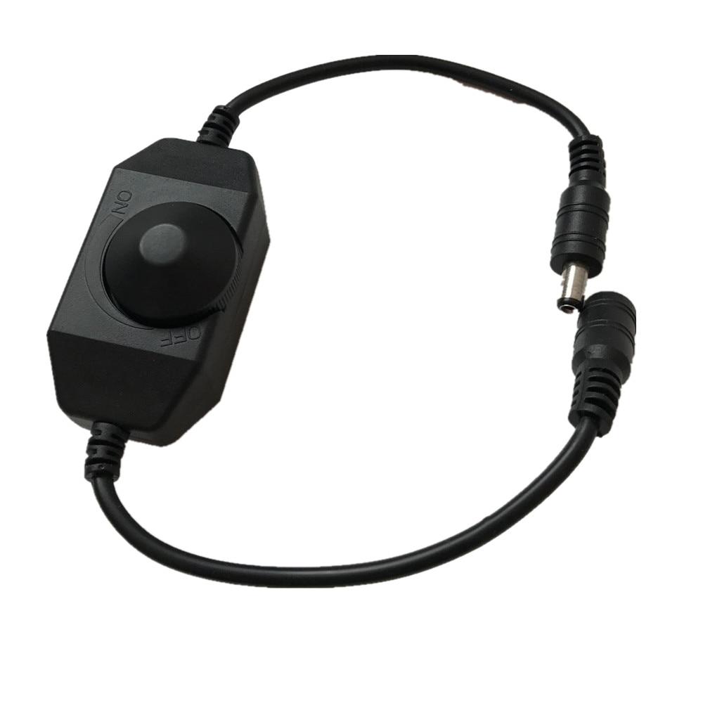 Mini LED Brightness Adjust Switch Dimmer Controller With DC For 3528 5050 5630 Single Color LED Strip Light LED Dimmer 12V