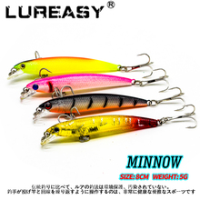 1pcs Fishing Lures 3D Eyes Floating Minnow Hard Aritificial Wobblers Crankbait 8cm 5g