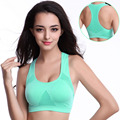 Women Sexy Bra Tanks Crop Tops Fitness Hollow Breathable Vest Without Steel Ring