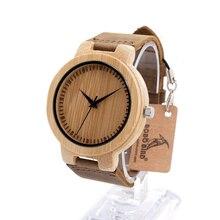 Бобо Птица D13 Марка Роскошные Деревянные Бамбука Часы С Натуральная Кожа Группа Кварцевые Часы для Мужчин Женщины в Подарочной Коробке