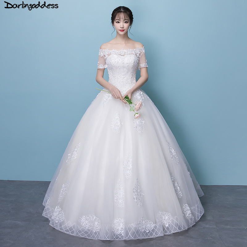 Vestido De Noiva Vintage Lace Short Sleeve Wedding Dress Plus Size Elegant Ball Gown Princess Wedding Gowns 2018 Robe De Mariage September 2020,Mermaid Corset Mermaid Wedding Dresses Plus Size