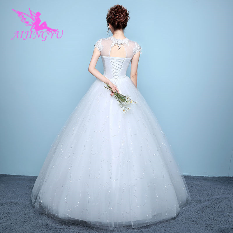 cea53fe9a04c3 AIJINGYU 2018 elegant free shipping new hot selling cheap ball gown lace up  back formal bride dresses wedding dress WK136