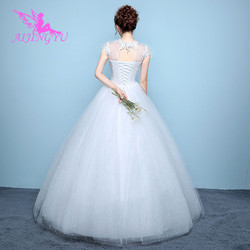 AIJINGYU 2018 elegant free shipping new hot selling cheap ball gown lace up back formal bride dresses wedding dress WK136 2