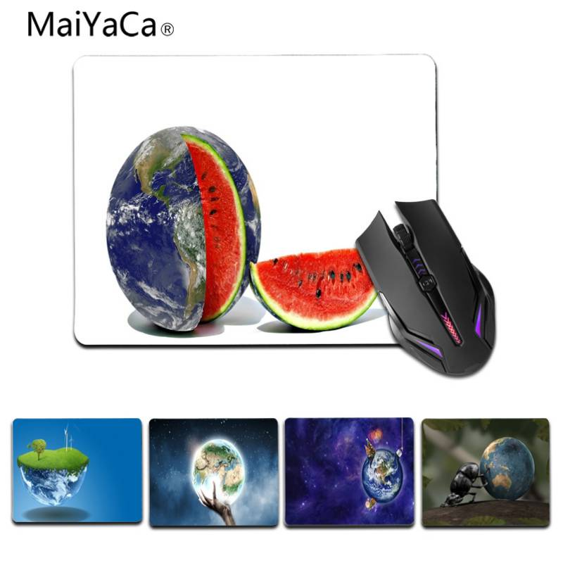 MaiYaCa Creative Earth Customized MousePads Computer Laptop Anime Mouse Mat Size for 25X29cm 180X220 MM Gaming Mousepads